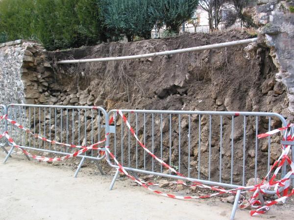 CODEREN - mur en pierre en opus incertum avant travaux - Limoges